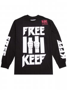 <strong>BEEN TRILL</strong>FREE KEEF LONG SLEEVE T-SHIRT<br>BLACK