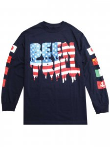 <strong>BEEN TRILL</strong>TRILL FLAG LONG SLEEVE T-SHIRT<br>NAVY