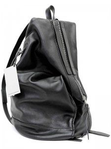 <strong>rewords/rewordsdesign</strong>DROOP LEATHER BACKPACK<br>BLACK