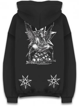 <strong>CVLT NATION</strong>RAINING BLOOD HOODIE SWEAT<br>BLACK