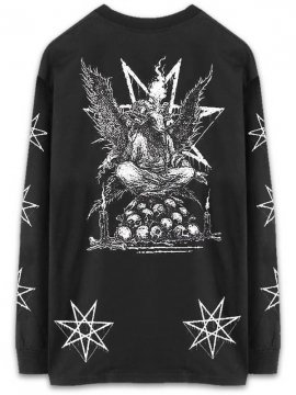 <strong>CVLT NATION</strong>RAINING BLOOD LONG SLEEVE T-SHIRT<br>BLACK