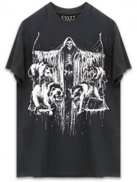 <strong>CVLT NATION</strong>CVLT OF WOLVES T-SHIRT<br>BLACK