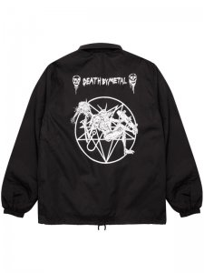 <strong>DEATH BY METAL</strong>Paranoid × Death By Metal COACH JACKET<br>BLACK