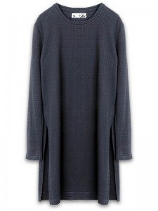 <strong>Dusty</strong>ALPO LONG MESH JERSEY OPEN SIDE T-SHIRT<br>BLACK