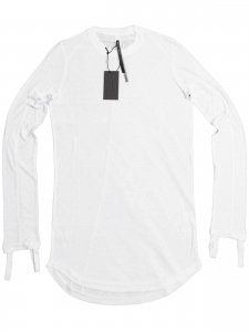 <strong>MANUEL MARTE</strong>FINGER HOOK L05 LONG SLEEVE T-SHIRT<br >WHITE