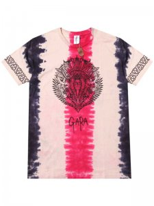 <strong>GARA</strong>INDIAN DYE T-SHIRT<br >RED TIEDYE