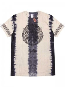 <strong>GARA</strong>INDIAN DYE T-SHIRT<br >BLACK TIEDYE