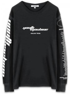 <strong>YOUTH MACHINE</strong>ONLINE TOUR LONG SLEEVE T-SHIRT<br>BLACK