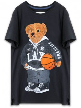 <strong>FREELIFE LA</strong>FREELIFE BEAR T-SHIRT<br>BLACK