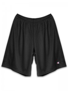 <strong>Champion USA</strong>3.7oz MESH SHORTS with POCKETS<br>BLACK