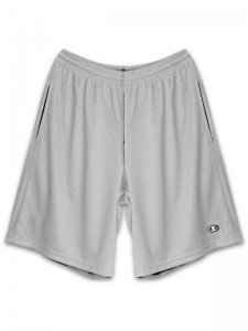 <strong>Champion USA</strong>3.7oz MESH SHORTS with POCKETS<br> ATHLETIC GRAY