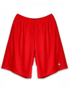 <strong>Champion USA</strong>3.7oz MESH SHORTS with POCKETS<br> SCARLET RED