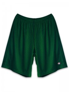 <strong>Champion USA</strong>3.7oz MESH SHORTS with POCKETS<br> DARK GREEN