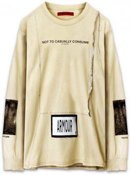 <strong>ARMOUR IN HEAVEN</strong>PULSE LONG SLEEVE T-SHIRT<br >CHALK BEIGE