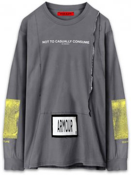 <strong>ARMOUR IN HEAVEN</strong>PULSE LONG SLEEVE T-SHIRT<br >STONE GREY
