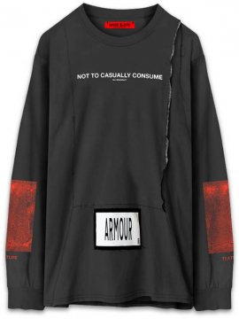 <strong>ARMOUR IN HEAVEN</strong>PULSE LONG SLEEVE T-SHIRT<br >GRAPHITE BLACK