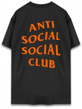 <strong>ANTI SOCIAL SOCIAL CLUB</strong> LOGO TEE ASIA LIMITED T-SHIRT <br>BLACK/ORANGE