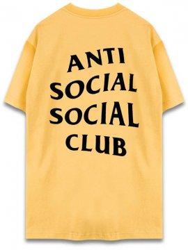 <strong>ANTI SOCIAL SOCIAL CLUB</strong> LOGO TEE TWO T-SHIRT <br>SQUASH YELLOW