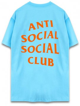 <strong>ANTI SOCIAL SOCIAL CLUB</strong> LOGO TEE TWO T-SHIRT <br>PACIFIC BLUE