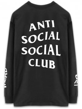 <strong>ANTI SOCIAL SOCIAL CLUB</strong> GET WEIRD LONG SLEEVE T-SHIRT <br>BLACK