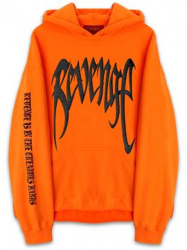 <strong>REVENGE GALLERY</strong>'KILL' ORANGE SWEAT HOODIE<br>ORANGE