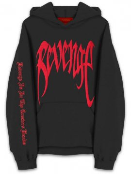 <strong>REVENGE</strong>'KILL' BLK/RED SWEAT HOODIE<br>BLACK/RED