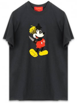 <strong>REVENGE</strong>'MICKEY' BLACK T-SHIRT<br>BLACK
