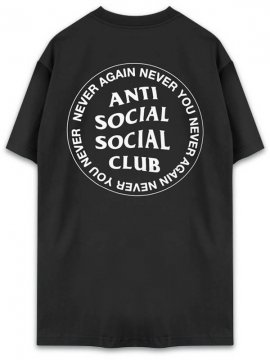 <strong>ANTI SOCIAL SOCIAL CLUB</strong>NEVER AGAIN NEVER YOU BLACK T-SHIRT<br>BLACK/WHITE