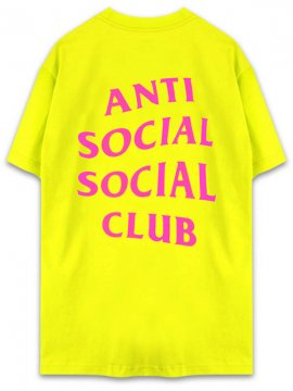 <strong>ANTI SOCIAL SOCIAL CLUB</strong>I STEEL FEEL THE SAME T-SHIRT<br>NEON YELLOW