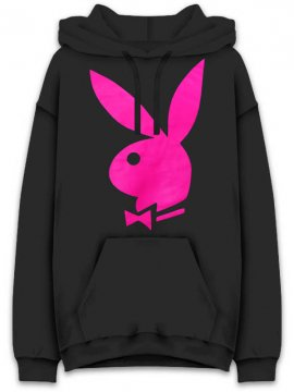 <strong>ANTI SOCIAL SOCIAL CLUB</strong>PLAYBOY x ASSC  SWEAT HOODIE<br>BLACK/PINK
