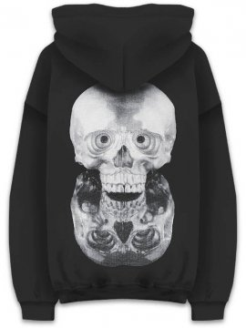 <strong>Kazumichi MARUOKA / 丸岡和吾</strong>MIRROR SKULL SWEAT HOODIE<br>BLACK