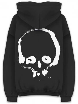 <strong>Kazumichi MARUOKA / 丸岡和吾</strong>BRUSH SKULL SWEAT HOODIE<br>BLACK