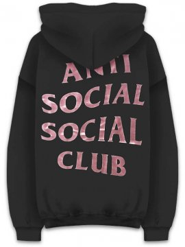 <strong>ANTI SOCIAL SOCIAL CLUB</strong>STRESSED SWEAT HOODIE<br>BLACK/BRONZ