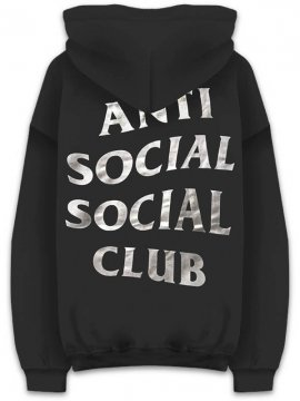 <strong>ANTI SOCIAL SOCIAL CLUB</strong>SIN CITY BLACK SWEAT HOODIE<br>BLACK/SILVER