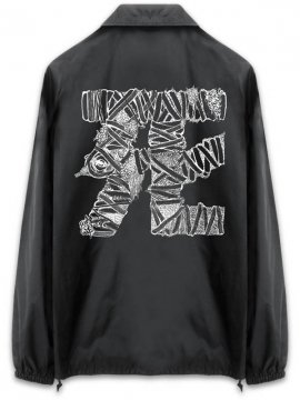 <strong> Kazumichi MARUOKA / 丸岡和吾 </strong>BANDAGE DEATH COACH JACKET<br>BLACK