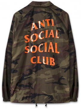 <strong> ANTI SOCIAL SOCIAL CLUB </strong>CAMO COACH JACKET<br>WOODLAND / ORANGE