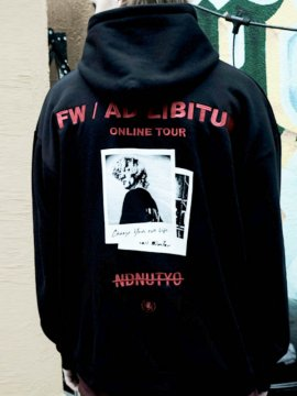 <strong>NIL DUE / NIL UN TOKYO</strong>BIG HOODIE SWEAT<br>BLACK