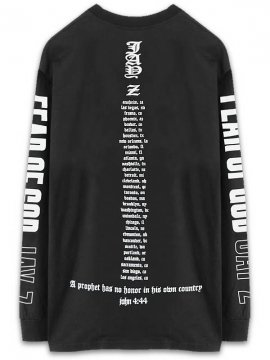 <strong>FEAR OF GOD JAY-Z</strong>FEAR OF GOD JAY-Z LONG SLEEVE T-SHIRT<br>BLACK