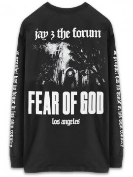 <strong>FEAR OF GOD JAY-Z</strong>FEAR OF GOD JAY-Z FORUM LONG SLEEVE T-SHIRT<br>BLACK