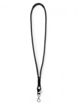 <strong>BLACK TRIANGLE DESIGN</strong>SHOCK CODE & leather neckholder<br>BLACK × SILVER