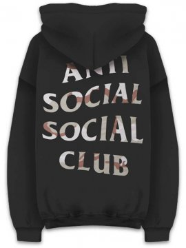 <strong>ANTI SOCIAL SOCIAL CLUB</strong>STORM BLACK SWEAT HOODIE<br>BLACK / DESERT CAMO