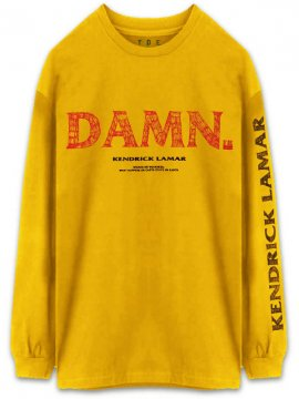 <strong>KENDRICK LAMAR MERCHANDISE</strong>Kung Fu LONG SLEEVE T-SHIRT<br>GOLD YELLOW