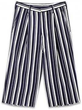 <strong>AG by EXPERIMENT</strong>1TUCK STRIPE WIDE TROUSERS<br>OFF x NAVY