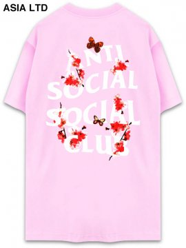 <strong>ANTI SOCIAL SOCIAL CLUB</strong>PEACH LOVE BLACK T-SHIRT<br>PINK