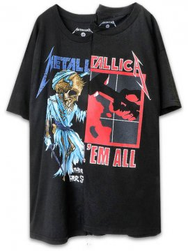 <strong>UNUSUAL</strong>DORRIS AND KILL EM ALL T-SHIRT<br>BLACK