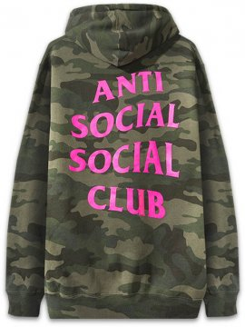 <strong>ANTI SOCIAL SOCIAL CLUB</strong>BREAK ME CAMO SWEAT HOODIE<br>WOODLAND / H.PINK