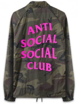 <strong> ANTI SOCIAL SOCIAL CLUB </strong>BLAIR WITCH CAMO COACH JACKET<br>WOODLAND / H.PINK