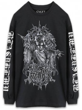 <strong>CVLT NATION</strong>SHOW NO MERCY LONG SLEEVE T-SHIRT<br>BLACK