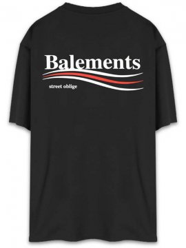 <strong>BALEMENTS</strong>BERNIE OVERSIZED T-SHIRT<br>BLACK