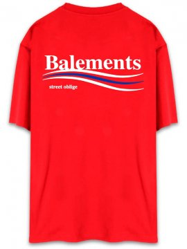 <strong>BALEMENTS</strong>BERNIE OVERSIZED T-SHIRT<br>RED